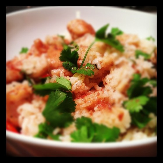 Garam masala with chicken and rice